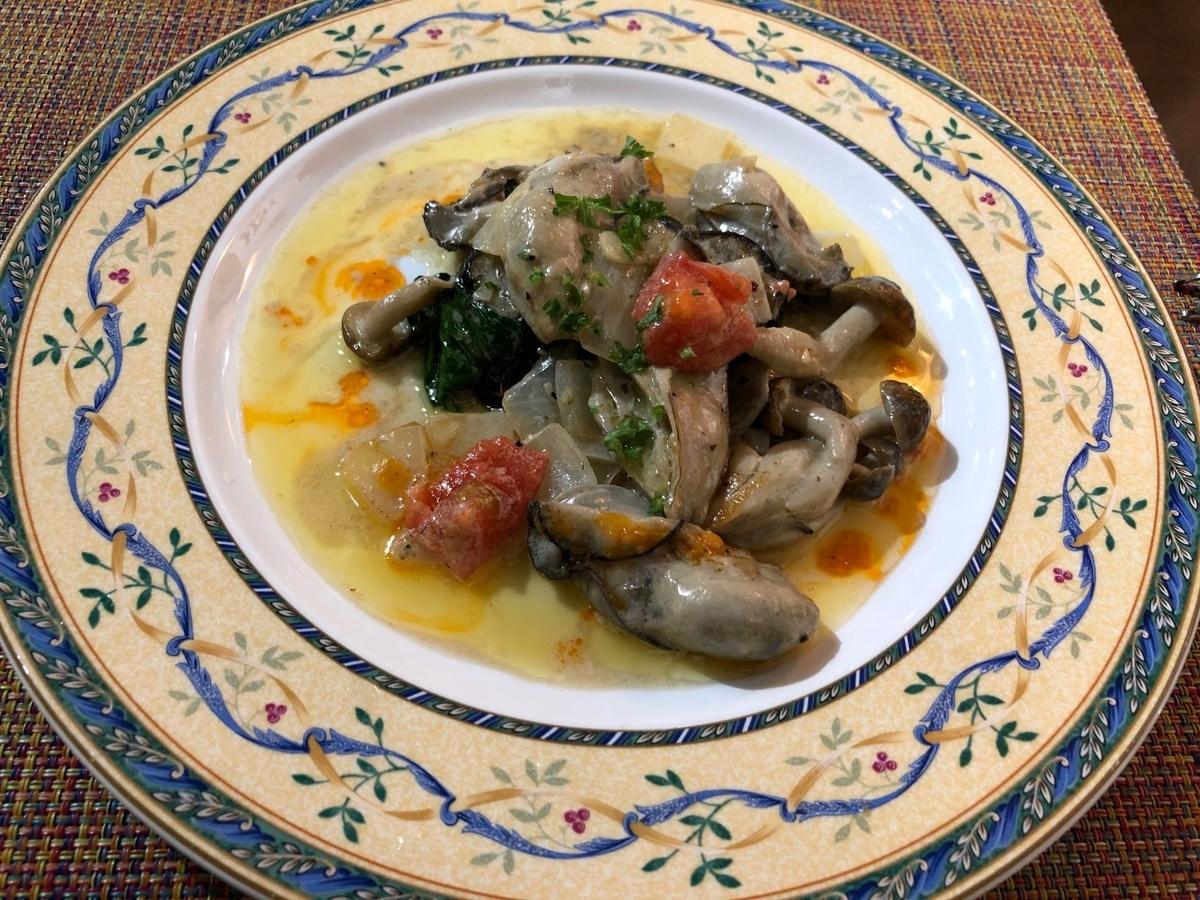 欧風バルマザン 牡蠣とナスのガーリック風味