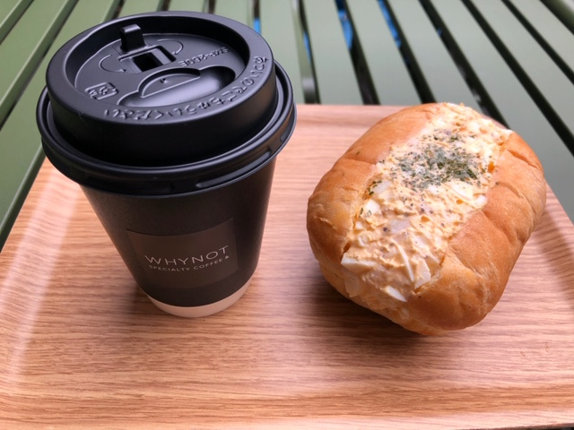 WHY NOT Specialty Coffee& たまごサラダサンド&ホットコーヒー