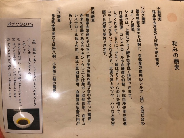 蕎麦の説明