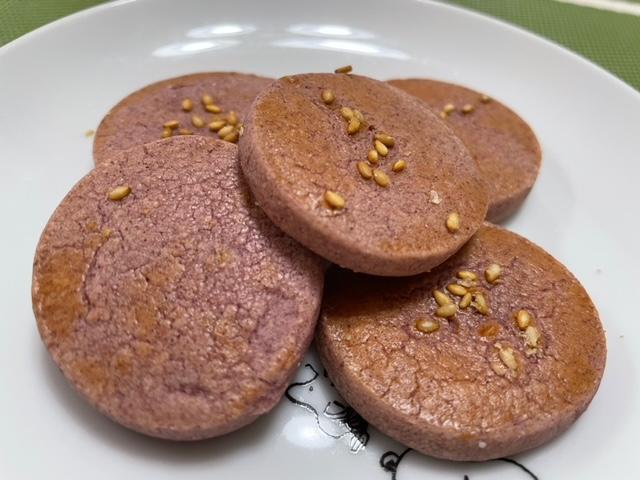 まるフェ マルシェ 紫芋クッキー開封
