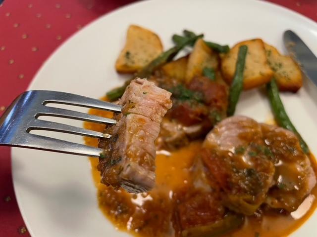 ルクロモンマルトル 豚フィレ肉のロースト