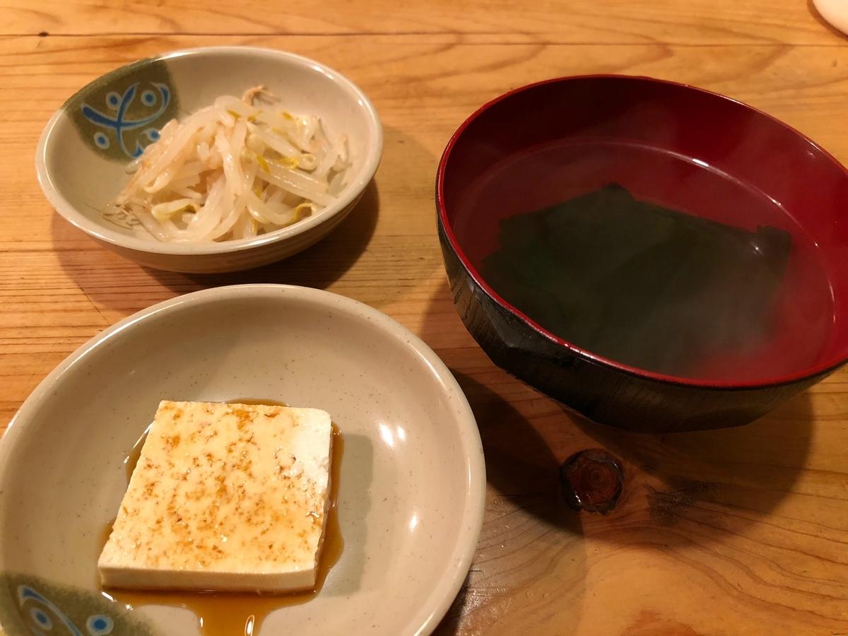 飯田橋 農楽 ランチの小鉢