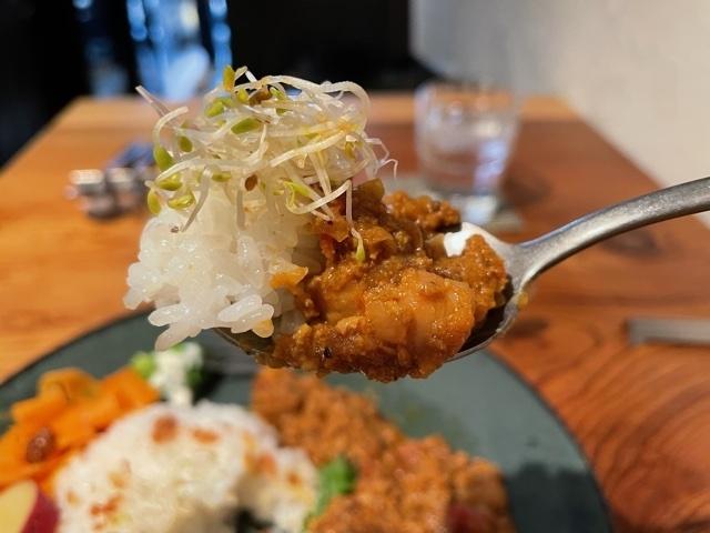 神楽坂むらむすび 挽肉とひよこ豆カレー