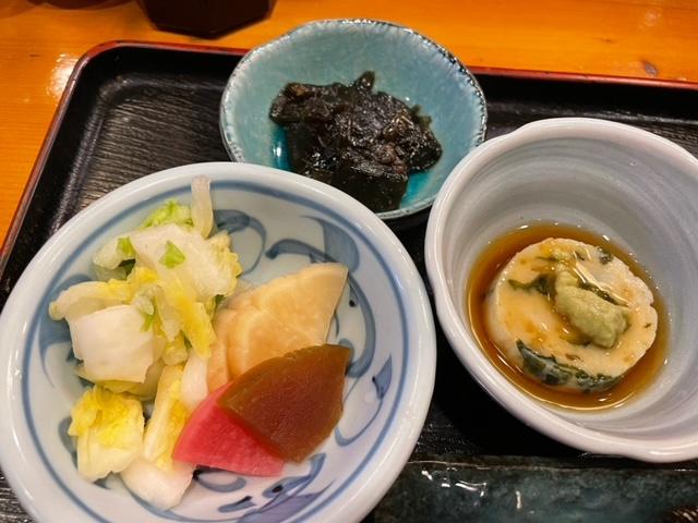 神楽坂新富寿司 小鉢3種