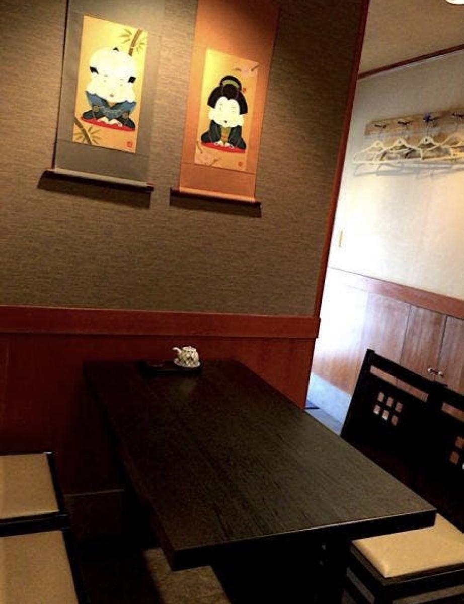 神楽坂鮨長 店内の様子 テーブル席