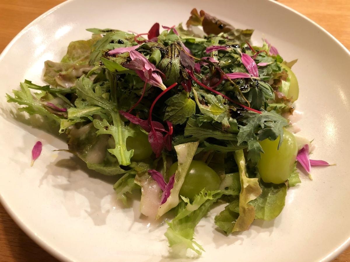 神楽坂chouchou ランチコース サラダ