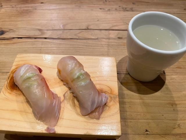 神楽坂なきざかな お通しのお寿司