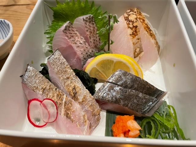 神楽坂なきざかな 漁師のいいとこ盛り 炙って食べる刺身