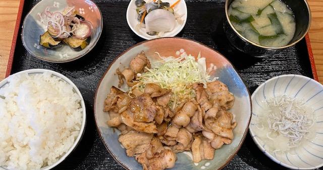 神楽坂酒庵きん助 ランチ 豚の生姜焼き定食