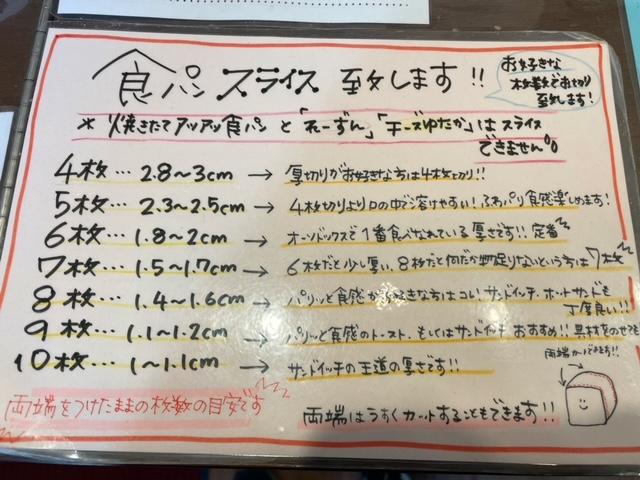 江戸川橋 食ぱん道 スライス表