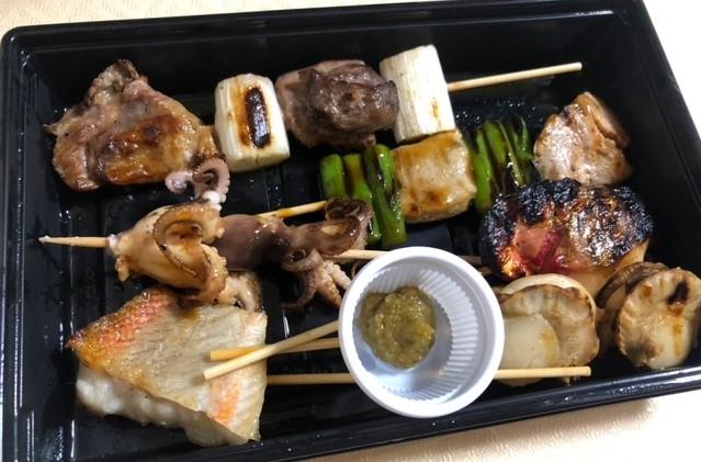 魚串さくらさく 神楽坂店 魚串6本盛り合せ