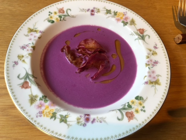 神楽坂NODO 紫芋のポタージュ