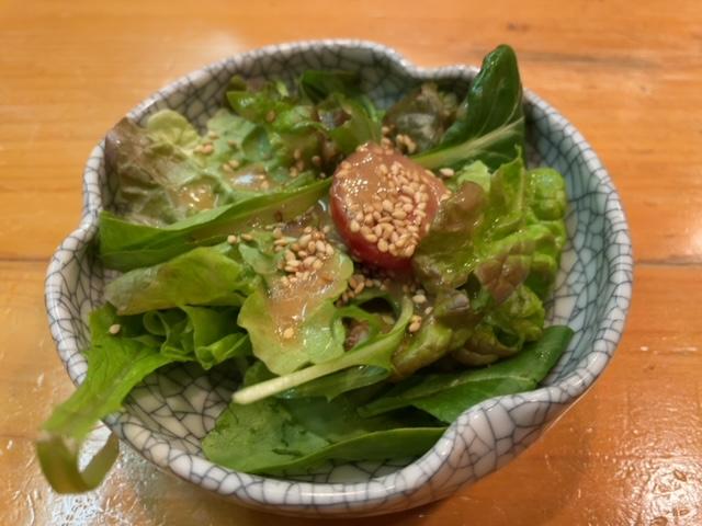 神楽坂 喜久寿し ランチ サラダ