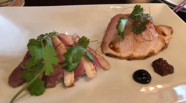 飯田橋 智林 鴨と豚のチャーシュー盛り合わせ