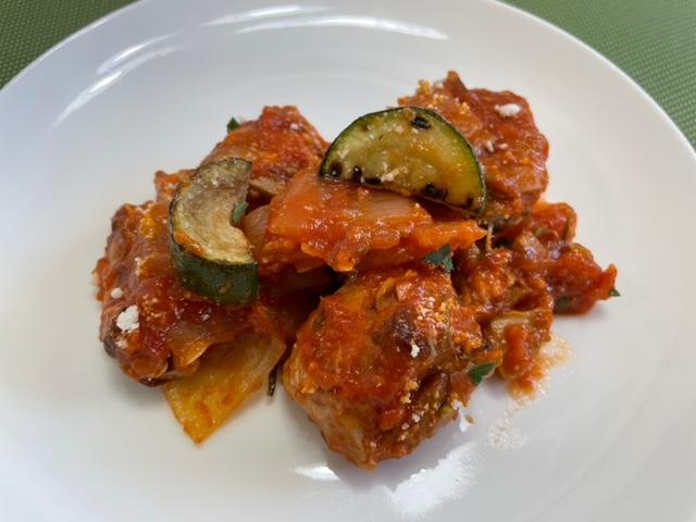 神楽坂イタリアン カリーナカリーナ テイクアウト 鶏肉のピリ辛トマト煮込み 3分の2