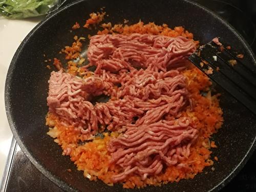 野菜とひき肉