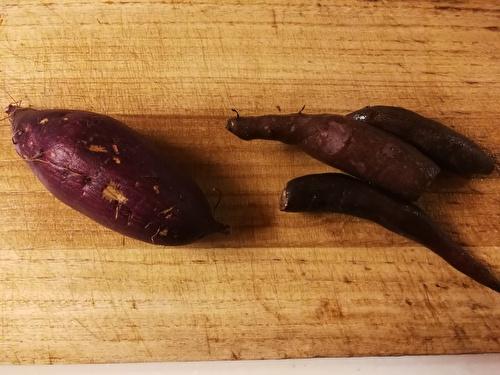 サツマイモとヤーコン