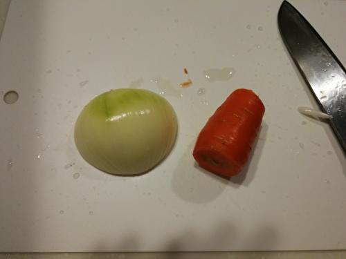 玉ねぎ、にんじん