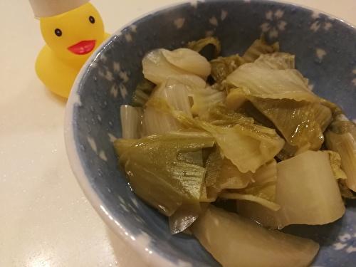 白菜と白ネギの煮物