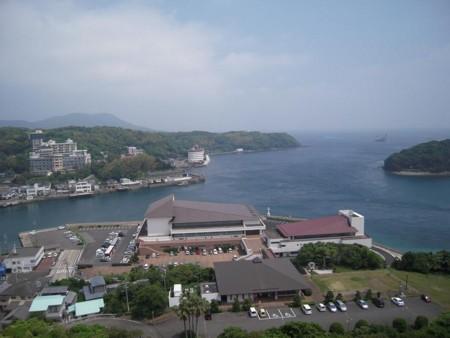 平戸城より海を望む