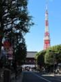 大門方面より東京タワーを望む