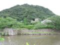 鳥取城跡を眺める
