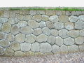 松前城亀甲積みの石垣