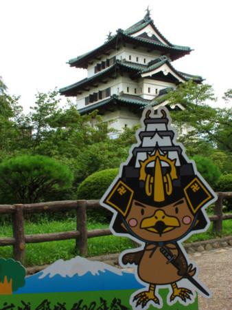 弘前城のキャラ たか丸くん