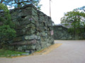 徳島城の青石 石垣