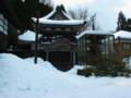能登雪景色(金蔵寺にて)