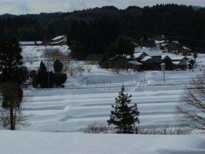 能登雪景色