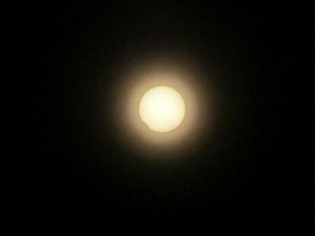 日食最後の瞬間