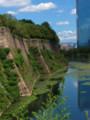 大阪城二丸から本丸東側の旧三重櫓石垣