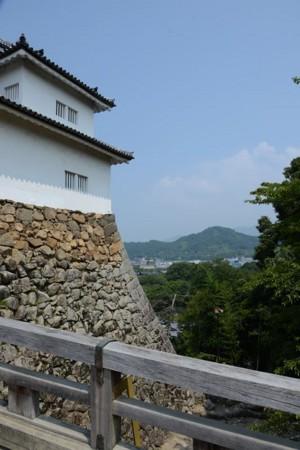彦根城天秤櫓前橋より佐和山城を望む