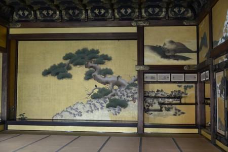 二条城黒書院の床の間の障壁画