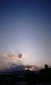 ほぼ山頂付近で日没