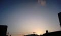 本日の日没〜っ