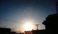 オハヨーゴザイマス(^^)/ 太陽ってイイネッ!