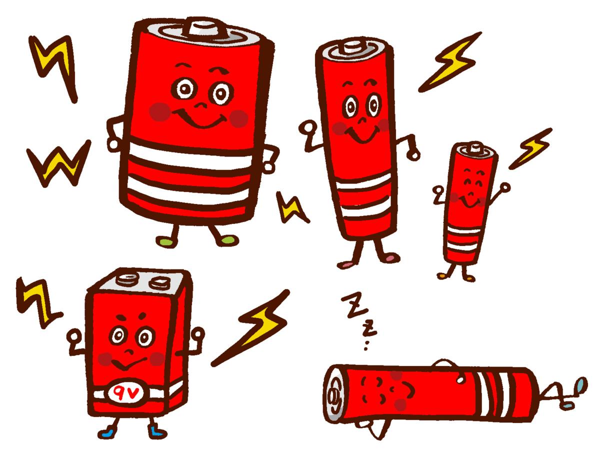 液だれしない乾電池を使いましょう