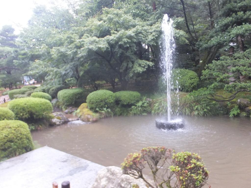 兼六園日本最古の噴水兼