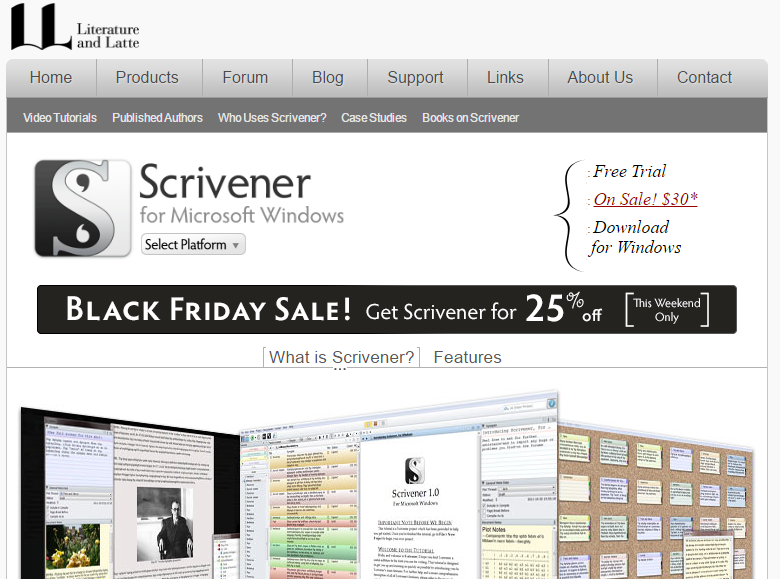 Scrivener windowsダウンロード