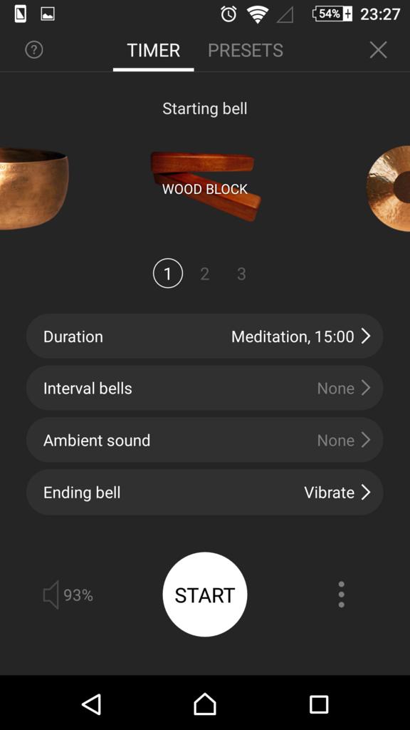 瞑想タイマーアプリ