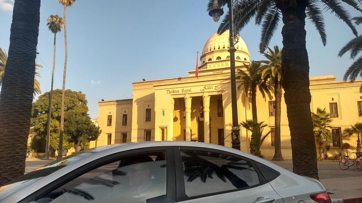モロッコ市内へドライブ