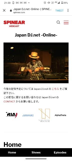 Japan DJ net online沖野修也 JDDA配信ライブ