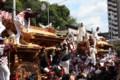 かちあい-濱八町だんじり祭:だんじり同士を追突させる神事