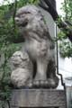 開口(あぐち)神社 狛犬:親子になっているのが面白い