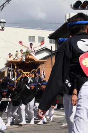 岸和田だんじり祭 やり回し