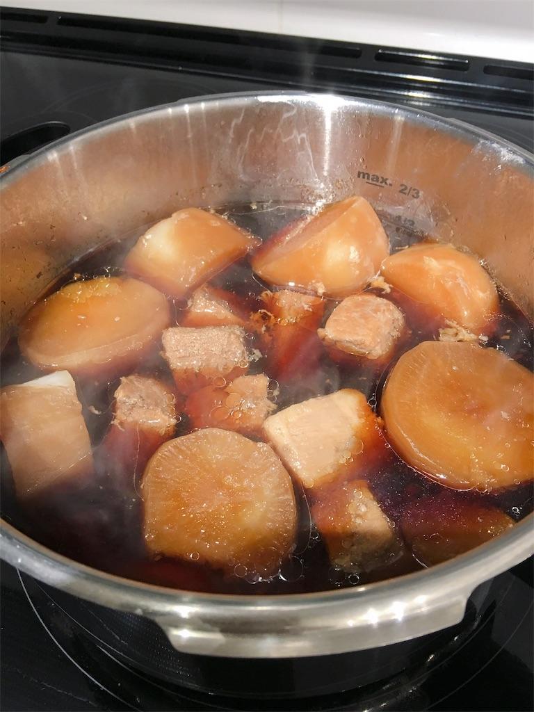 圧力 鍋 煮 角