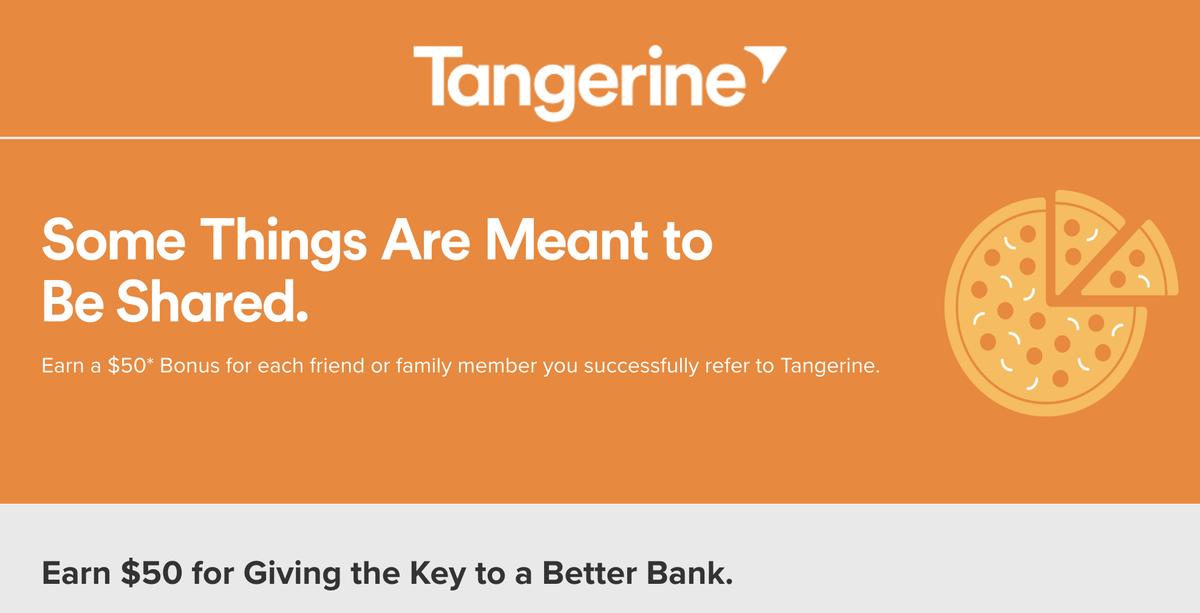 Tangerineで$100入金するだけで今なら50ドルもらえるキャンペーン