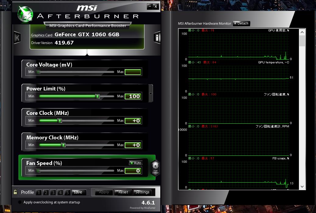 MSI GTX 1060 6GB Afterburner